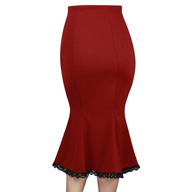 red Retro Skirt